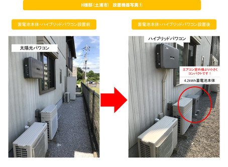 土浦市 H様邸シャープ蓄電池施工完了しました!