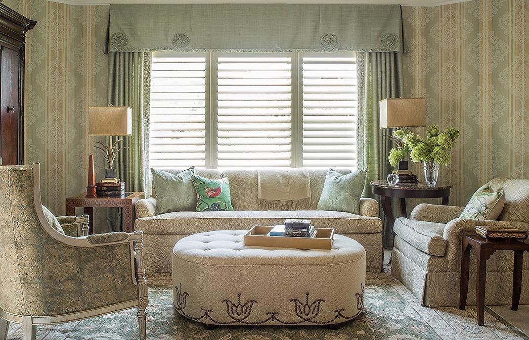 An Elegant sitting corner in a master bedroom we've designed for our wonderful clients.