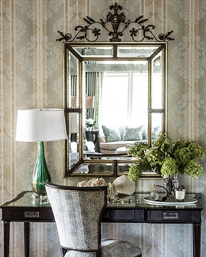 This mirror reflects the light and beauty from the outside!
