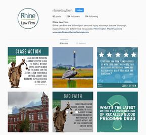Rhine Law Firm Instagram