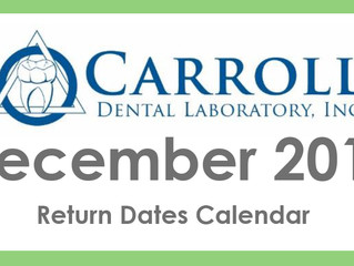 December Scheduling Calendar and Holiday Closings!