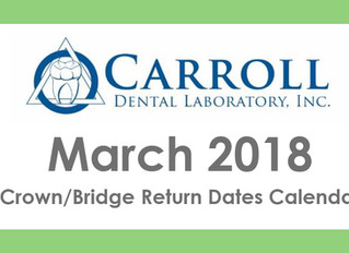 March Scheduling Calendar Now Available