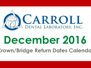 December Scheduling Calendar Now Available