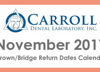 November Scheduling Calendar Now Available!