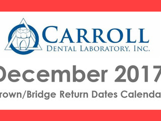 December Scheduling Calendar and Holiday Closings Now Available