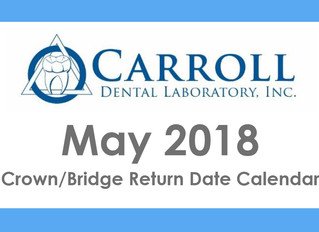 May Scheduling Calendar Now Available!