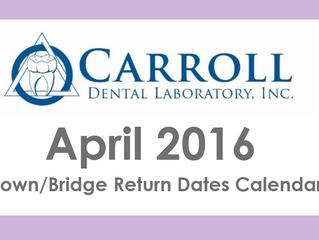 April Due Dates Calendar Available Now!