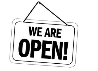 We remain open!