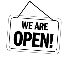 We remain open!