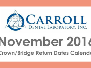 November Scheduling Calendar Now Available
