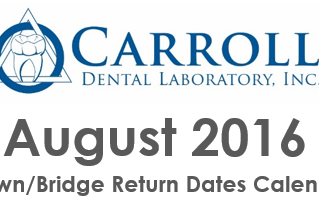August Scheduling Calendar Now Available