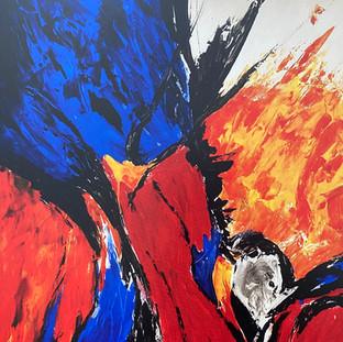 Der Troubadour - Flammen lodern in den Himmel