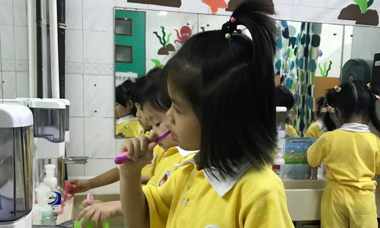 15午餐後刷牙.JPG