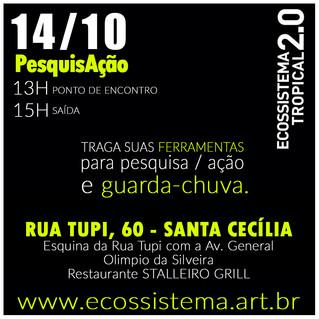 [2º dia SP] Chamada para a PesquisAção - pesquisa de campo do Ecossistema 2.0 em Santa Cecília