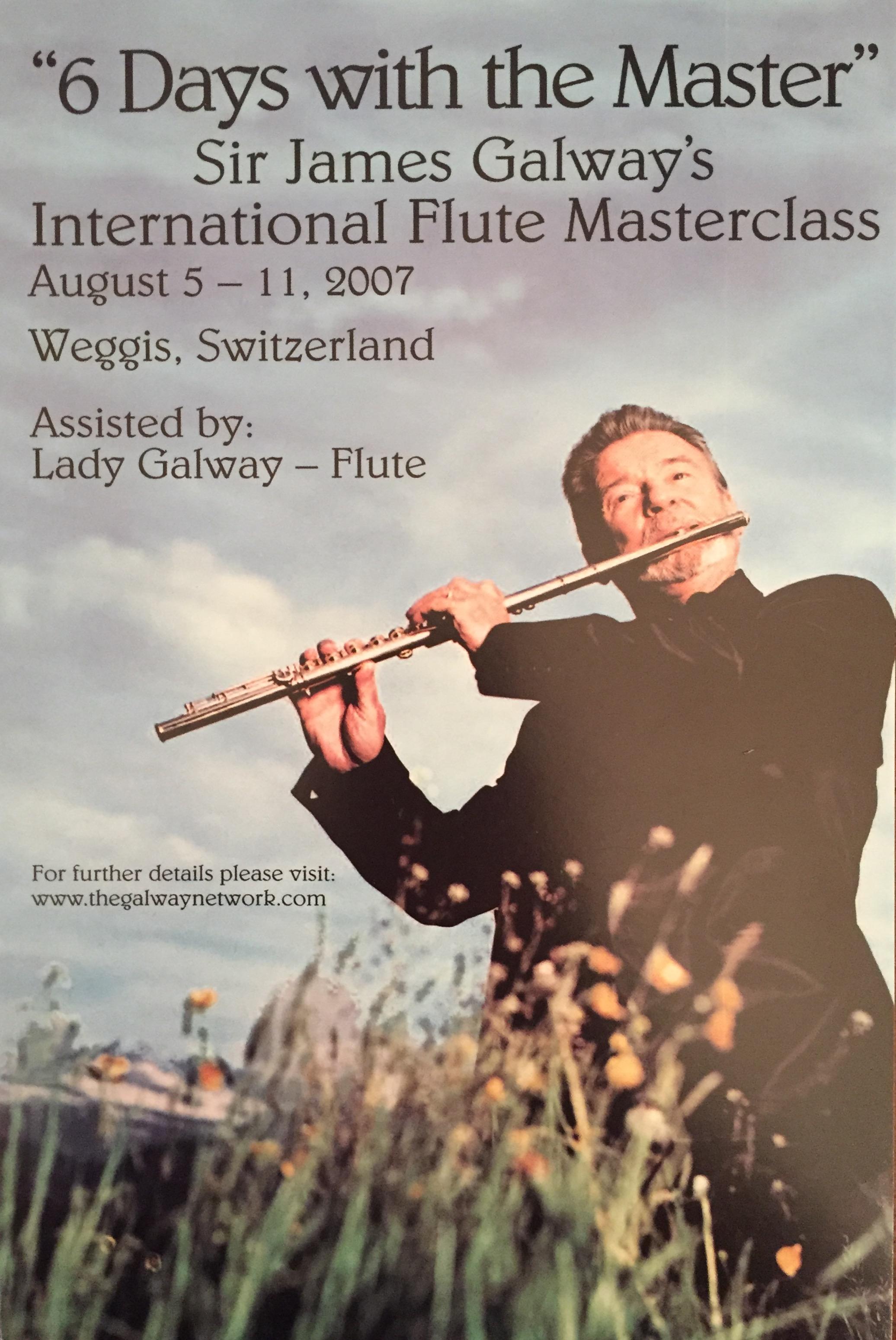 James Galway Masterclass 2007-Weggis-Anna Stokes Flute