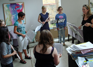 Anna Stokes Class - Teaching Assistant on the Friend International Flute Academy