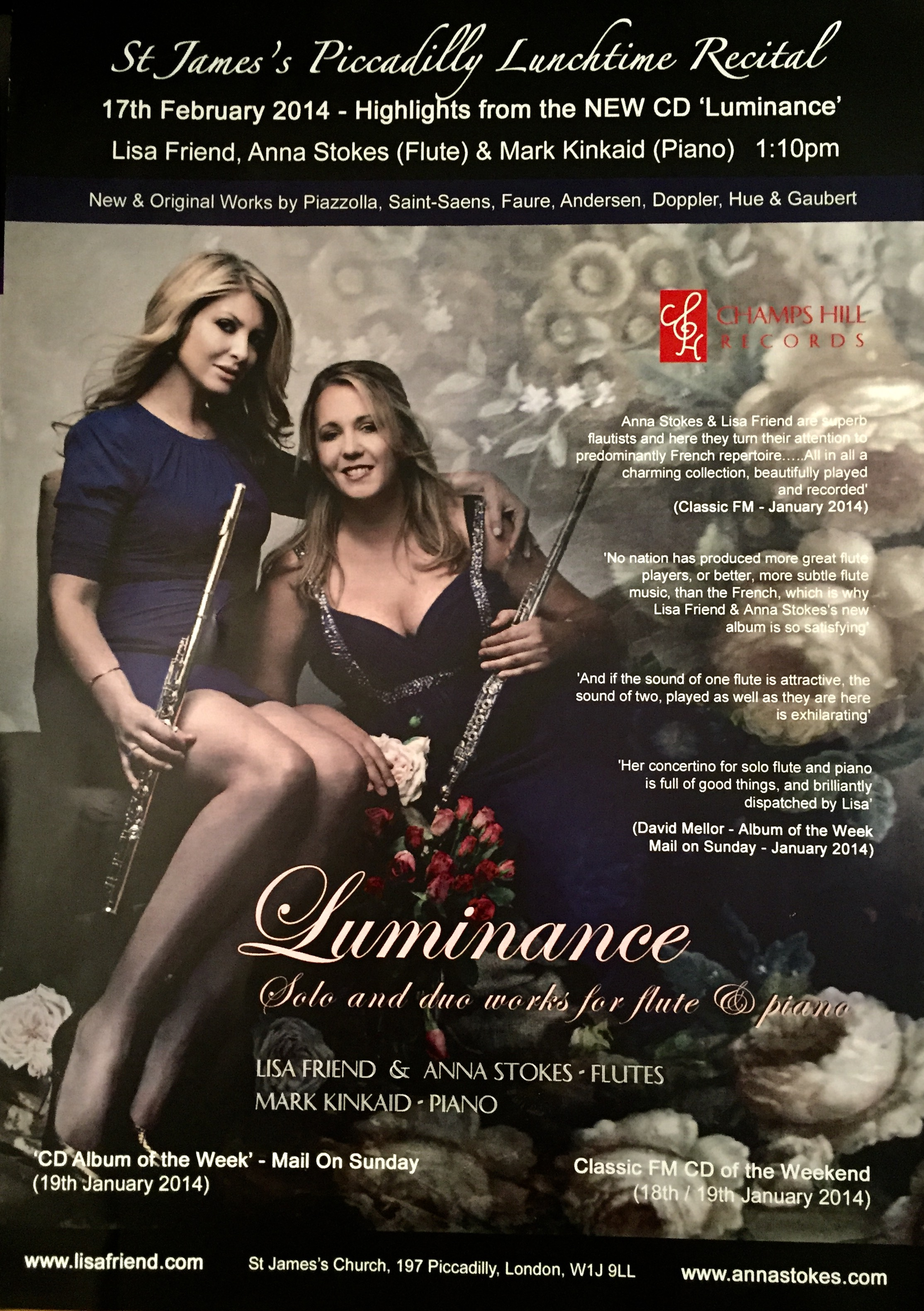 Luminance CD Launch-Lisa Friend and