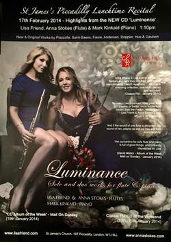 Luminance CD Launch-Lisa Friend and