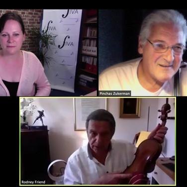 FIVA Masterclass panel discussion with Pinchas Zukerman and Rodney Friend 2020