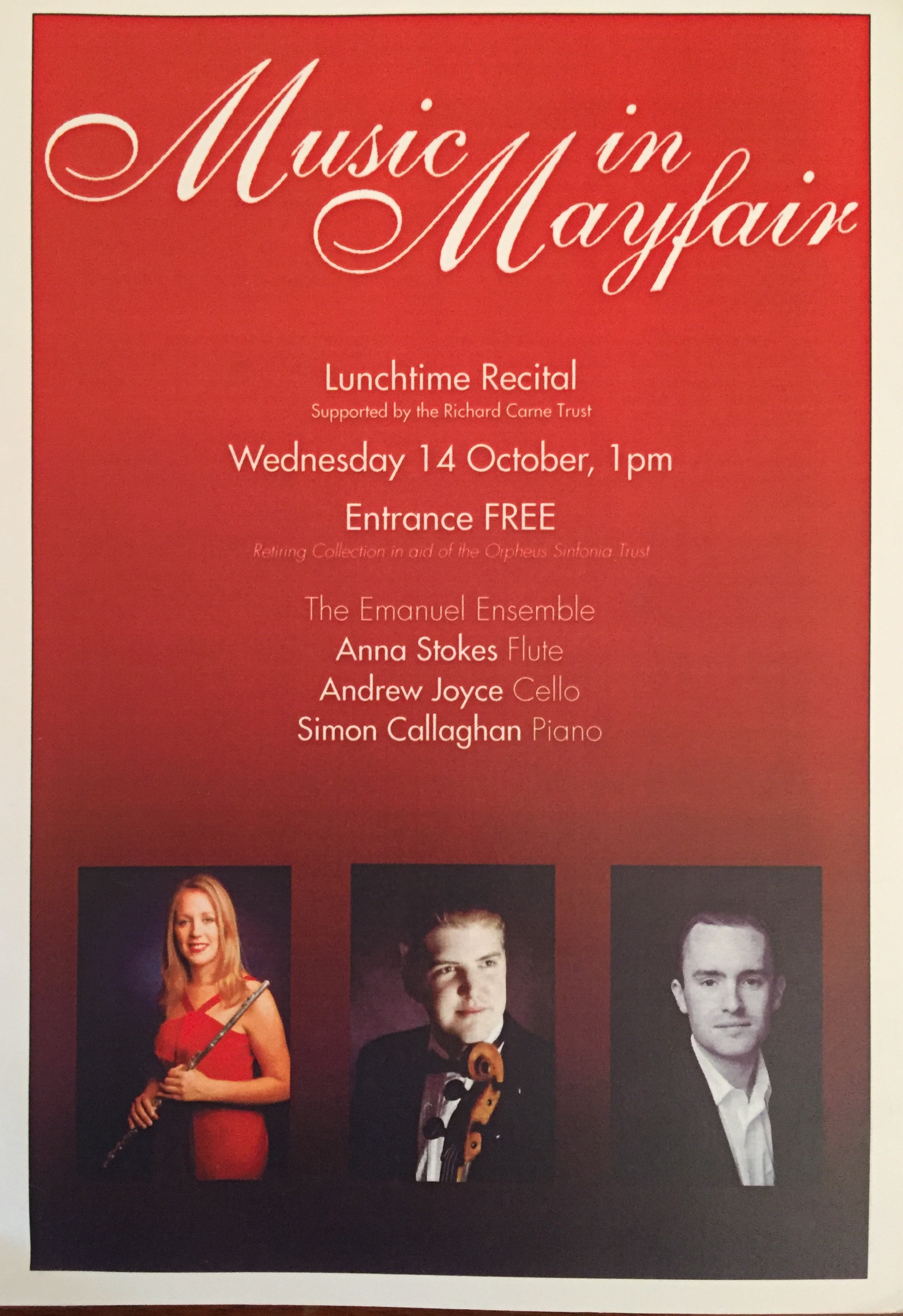 Music in mayfair-Anna Stokes Flute-Emanuel Ensemble