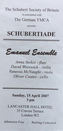 Schubert Society-Emanuel Ensemble-Anna Stokes Flute