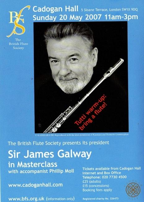 Emanuel Ensemble - Anna Stokes Flute- Cadogan Hall-James Galway Masterclass
