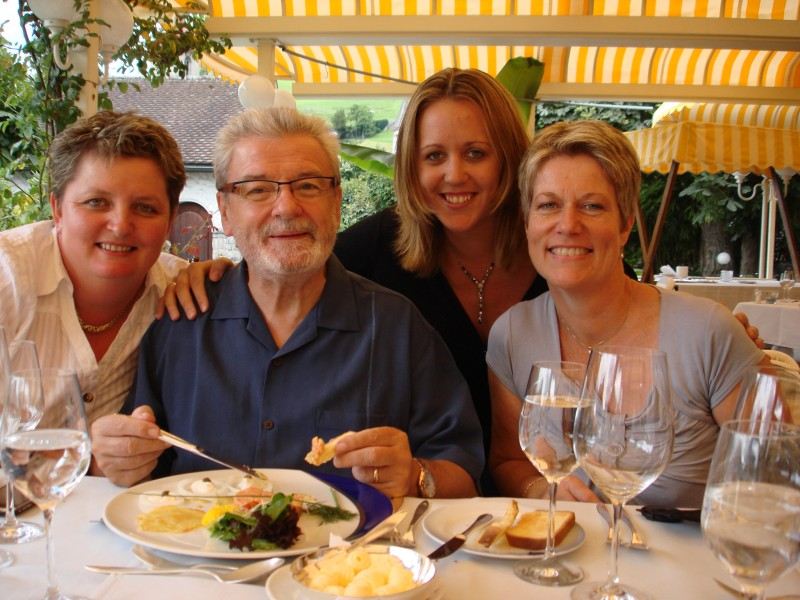 James Galway-Anna stokes Switzerland Masterclass 2007-Lunch