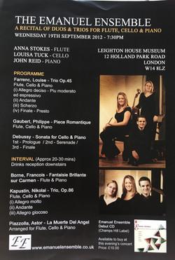 Leighton House Recital-Anna Stokes-Emanuel Ensemble
