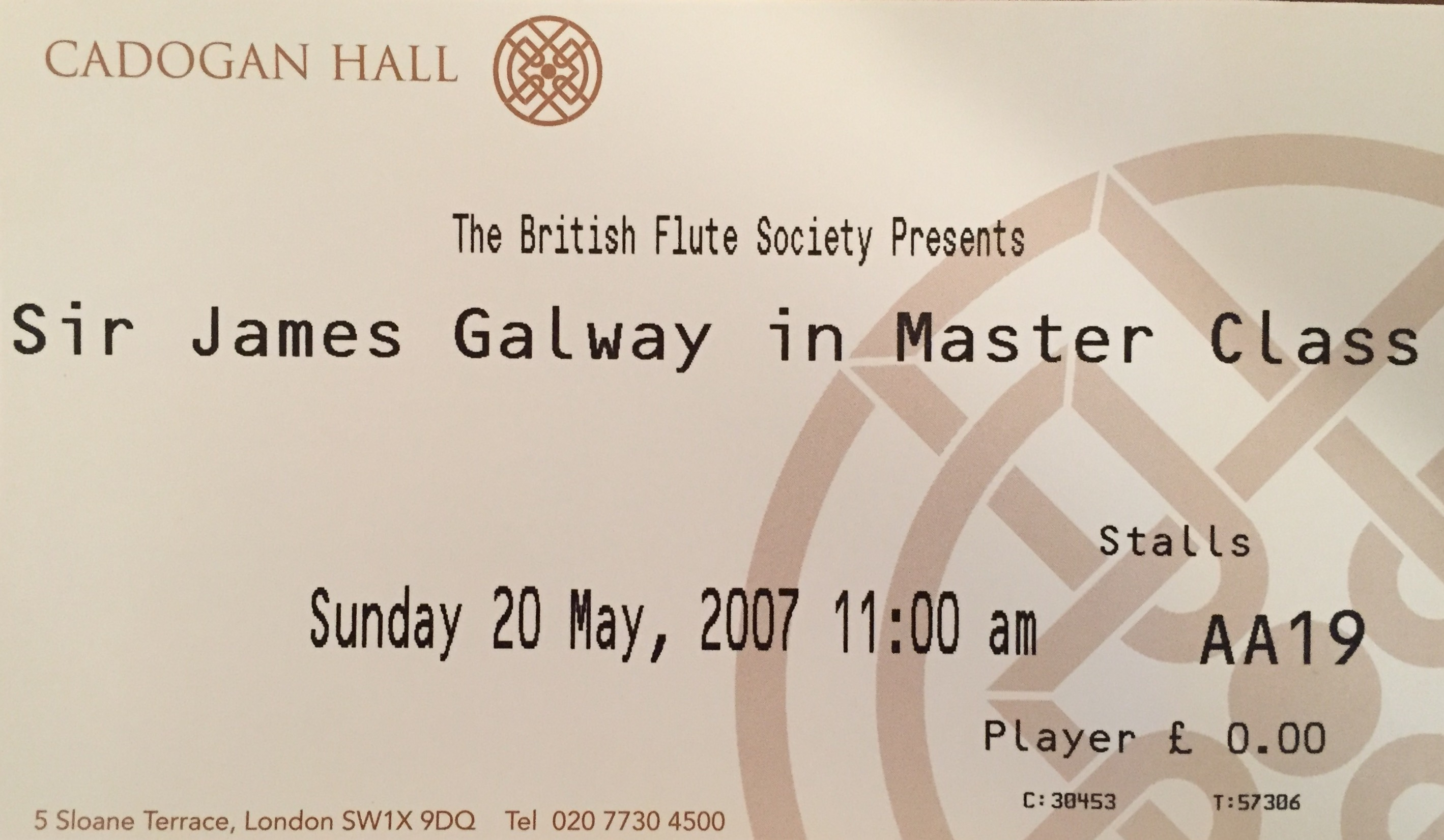 James Galway Masterclass Cadogan Hall-Anna Stokes-Emanuel Ensemble-Mozart Quartet