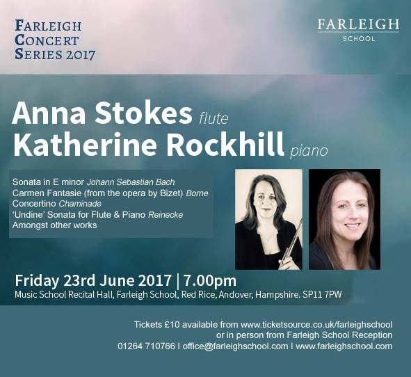 Farleigh Concert Series 2017 Anna Stokes Flute and Katherine Rockhill Piano 23rd June 17