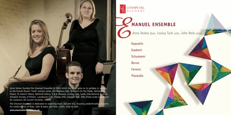 Anna Stokes flute-Emanuel Ensemble CD Cover