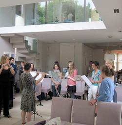Anna Stokes Class - Teaching Assistant on the Friend International Flute Academy