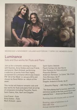 Music at Stowe-Lisa Friend and Anna Stokes-Luminance