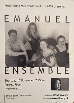 Anna Stokes Flute-Emanuel Ensemble-Purcell Room Programme