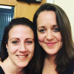 Portsmouth Music Club-Informal Photo post concert-Anna Stokes and Katherine Rockhill May 17
