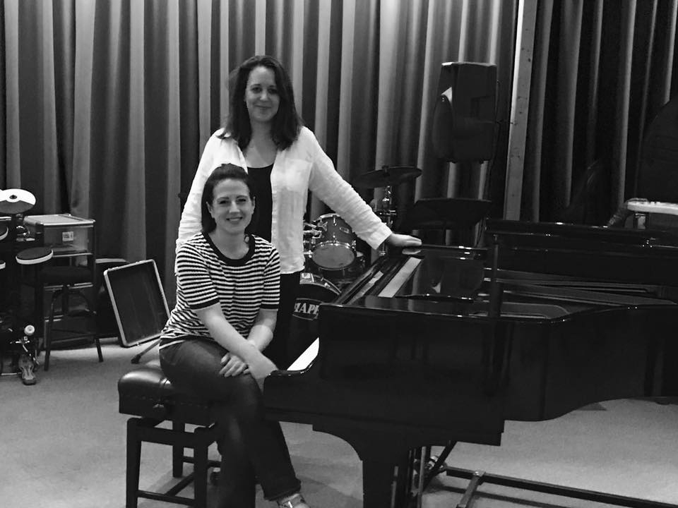 Portsmouth Music Club-Informal Photo post concert-Anna Stokes and Katherine Rockhill 2017