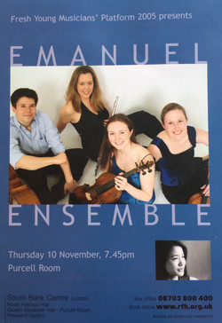 Purcell Room Debut-Anna Stokes Flute-Emanuel Ensemble