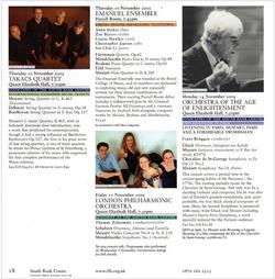 Emanuel Ensemble Purcell Room Recital - Anna Stokes Flute- RFH Prog