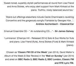 Luminance CD Quotes 2-Anna Stokes and Lisa Friend Flutes