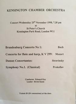 Anna Stokes - Jennifer Campbell-Mozart Flute and Harp Concerto - Kensington Chamber Orchestra