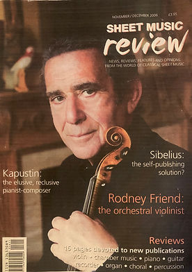 Rodney Friend Sheet Music review Magazin