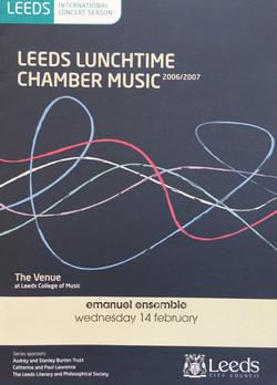 Leeds Lunchtime Concert Series-Anna Stokes Flute-Emanuel Ensemble