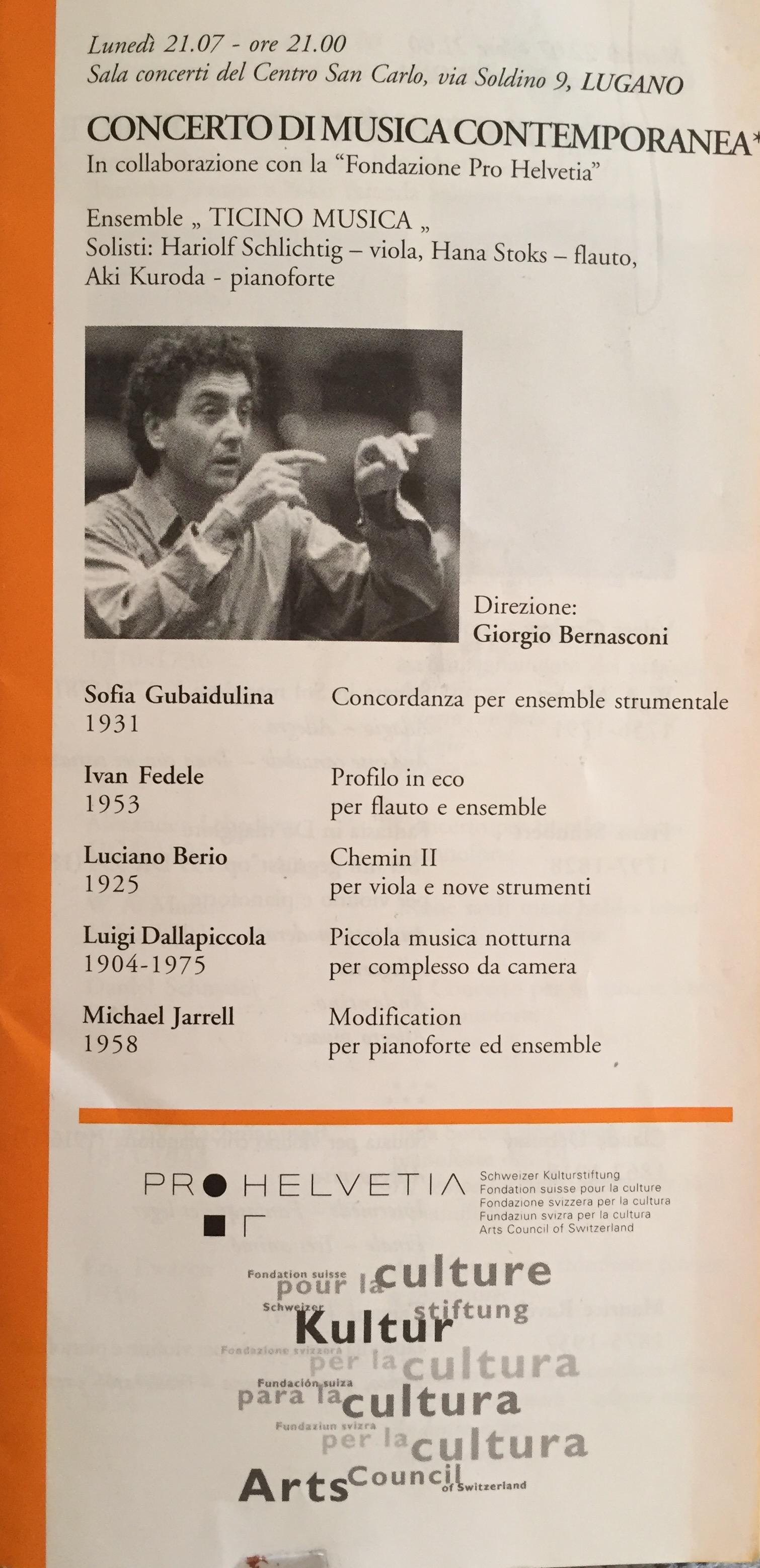 Ticino Musica Switzerland Anna Stokes Flute Soloist