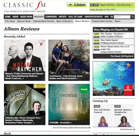 Luminance Cd Classic FM CD of the Weekend Jan 2014 Anna Stokes Flute-Lisa Friend-Flute-Mark Kinkaid