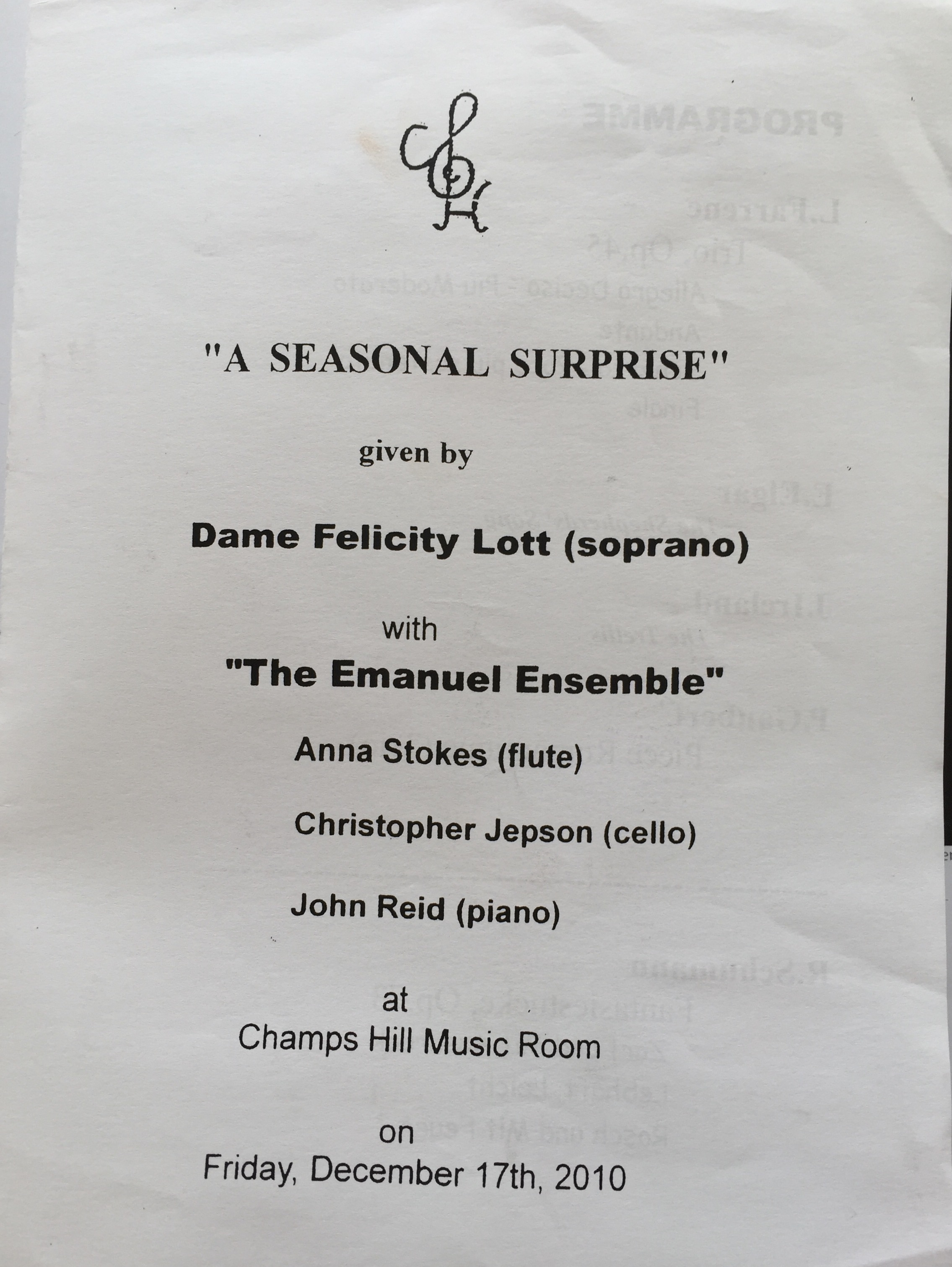 A Seasonal Surprise-Anna Stokes-Emanuel Ensemble-Felicity Lott