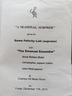 A Seasonal Surprise-Anna Stokes-Emanuel Ensemble-Felicity Lott