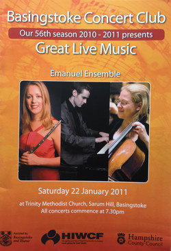 Basingstoke Concert Club-Anna Stokes Flute-Emanuel Ensemble
