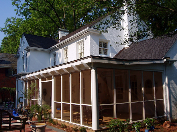 Custom porch enclosure in Myers Park