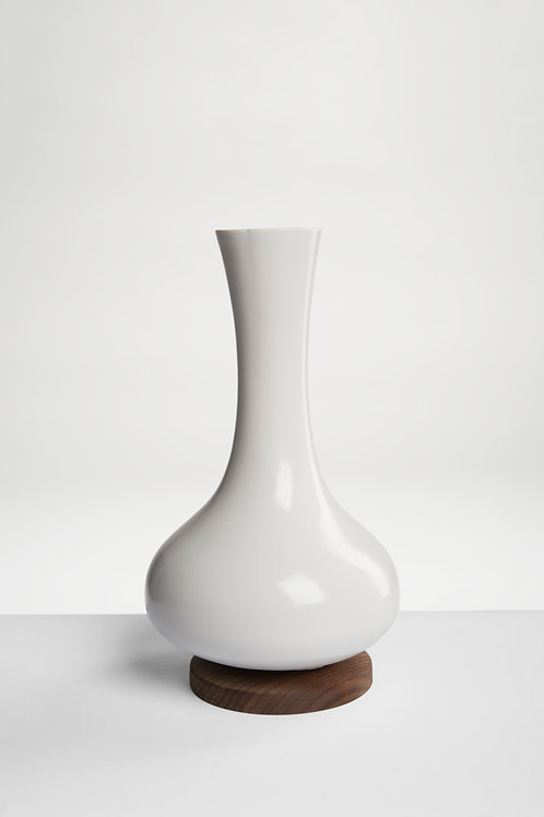 Decanter with wooden base