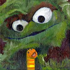 Oscar the Grouch (and Slimey)